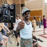 Caleb McLaughlin en el rodaje de la tercera temporada de 'Stranger Things'