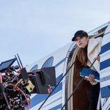 Najwa Nimri como Alicia Sierra en el rodaje de la tercera parte de 'La Casa de Papel'