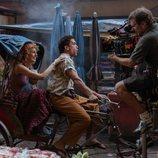 Esther Acebo y Jaime Lorente en el rodaje de la tercera parte de 'La Casa de Papel'