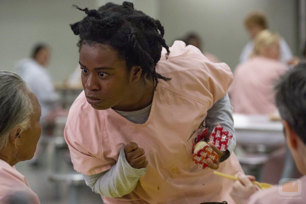 Uzo Aduba como Crazy Eyes en la temporada 7 de 'Orange is the New Black'