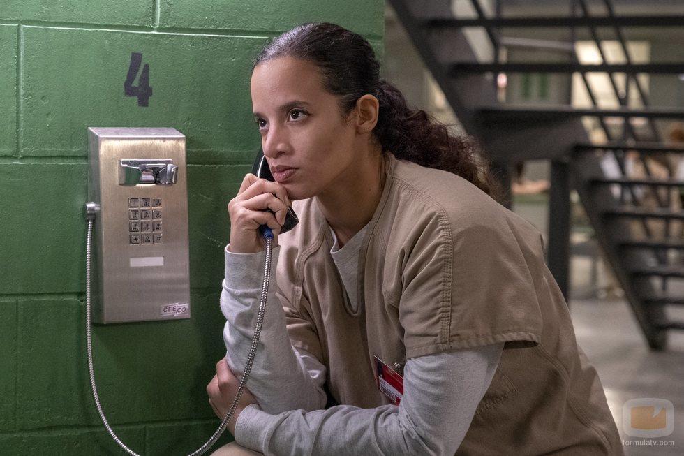 Dascha Polanco en el rodaje de la séptima temporada de 'Orange is the New Black'
