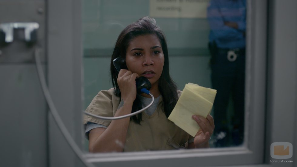 Jessica Pimentel en el rodaje de la temporada 7 de 'Orange is the New Black'