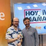 Santiago Segura y José Mota en la presentación de 'Hoy no, mañana'