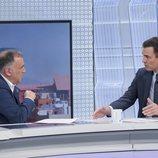 Pedro Sánchez con Xabier Fortes, en 'Los Desayunos de TVE'