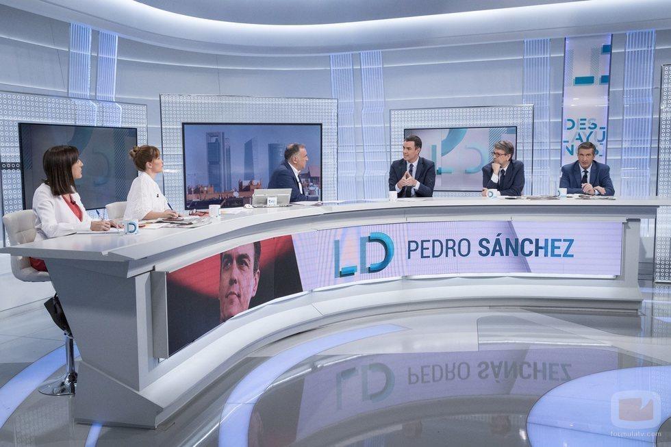 Pedro Sánchez, en el plató de 'Los Desayunos de TVE'