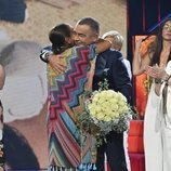 Isabel Pantoja abraza a Jorge Javier Vázquez en 'Supervivientes 2019'