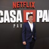 Rodrigo de la Serna en la premiere de la tercera temporada de 'La Casa de Papel'
