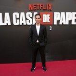 Pedro Alonso en la premiere de la tercera temporada de 'La Casa de Papel'