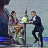 Jorge Javier Vázquez entrevista a Isabel Pantoja en el plató de 'Supervivientes 2019'