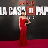 Úrsula Corberó en la premiere de la tercera temporada de 'La Casa de Papel'