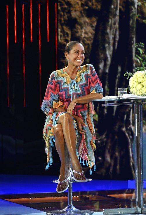 Isabel Pantoja, sonriente en su entrevista de 'Supervivientes 2019'