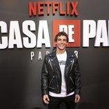 Miguel Herrán en la premiere de la tercera temporada de 'La Casa de Papel'