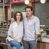 Lola Marceli y Antonio Garrido en 'Mercado central'