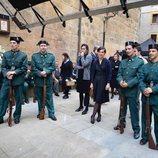 Un grupo de actores caracterizados como guardias civiles en 'La línea invisible'