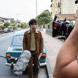 Àlex Monner como Txabi Etxebarrieta en el rodaje de 'La línea invisible'