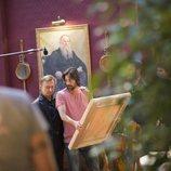 Anton Yakovlev y Hugo Silva en el rodaje de 'Nasdrovia'