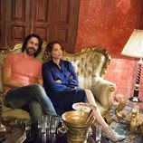 Hugo Silva y Leonor Watling en el rodaje de 'Nasdrovia'