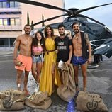 Los cuatro finalistas de 'Supervivientes 2019' junto a Lara Álvarez en la gran final