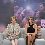 Mª Ángeles, la abuela de Omar Montes, junto a Sandra Barneda en 'Viva la vida'
