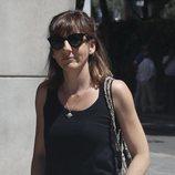 Malena Alterio en el tanatorio por la muerte de Eduardo Gómez