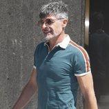 Nacho Guerreros en el tanatorio por la muerte de Eduardo Gómez