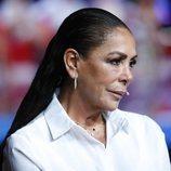 Isabel Pantoja, concursante de 'Supervivientes 2019', durante las pausas del debate final