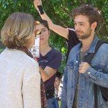 María Pujalte y Carlos Cuevas en el rodaje de 'Merlí: Sapere Aude'