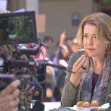 María Pujalte como Bolaño durante el rodaje de 'Merlí: Sapere Aude'