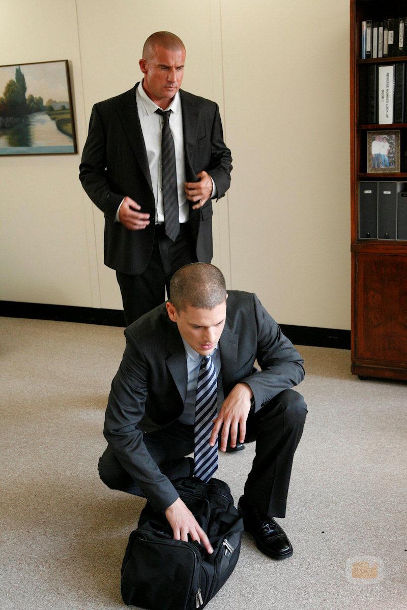 Michael Scofield y Lincoln Burrows en 'Prison break'