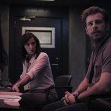 María Morales y Álvaro Cervantes en la sala de interrogatorios de 'Criminal'