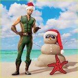 Chace Crawford hace un muñeco de arena en el calendario de 'The Boys'
