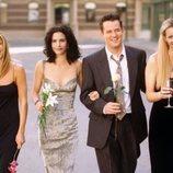 Los actores de 'Friends' pasean por la calle