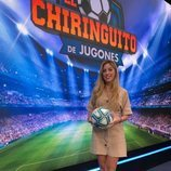 Andrea Borreguero cubre la actualidad deportiva en 'El Chiringuito de Jugones'