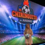 Andrea Borreguero en el plató de 'El Chiringuito de Jugones'