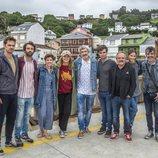 Los actores de 'Néboa' durante el rodaje
