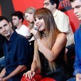 Danna Paola habla en la rueda de prensa de la segunda temporada de 'Élite'