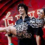 Jorge López y Danna Paola en el estreno de la segunda temporada de 'Élite'