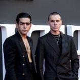 Omar Ayuso y Arón Piper en el estreno de la segunda temporada de 'Élite'