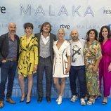 El reparto de 'Malaka' en la presentación