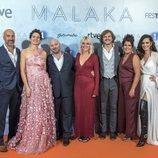 El reparto de 'Malaka' en la premiere