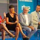 Eva Hache junto a Fernando López Puig en la presentación de 'La Paisana'