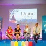Toñi Prieto, Eva Hache, Fernando López Puig y Raimon Masllorens en la presentación de 'La Paisana'