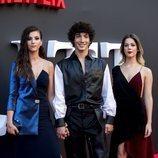 Claudia Salas, Jorge López y Georgina Amorós en el estreno de la segunda temporada de 'Élite'