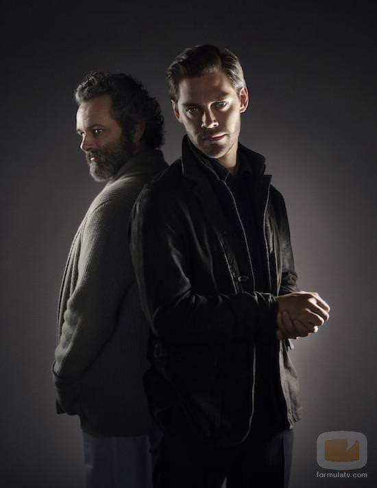 Michael Sheen y Tom Payne en 'Prodigal Son'