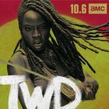Michonne, en un póster promocional de la temporada 10 de 'The Walking Dead'