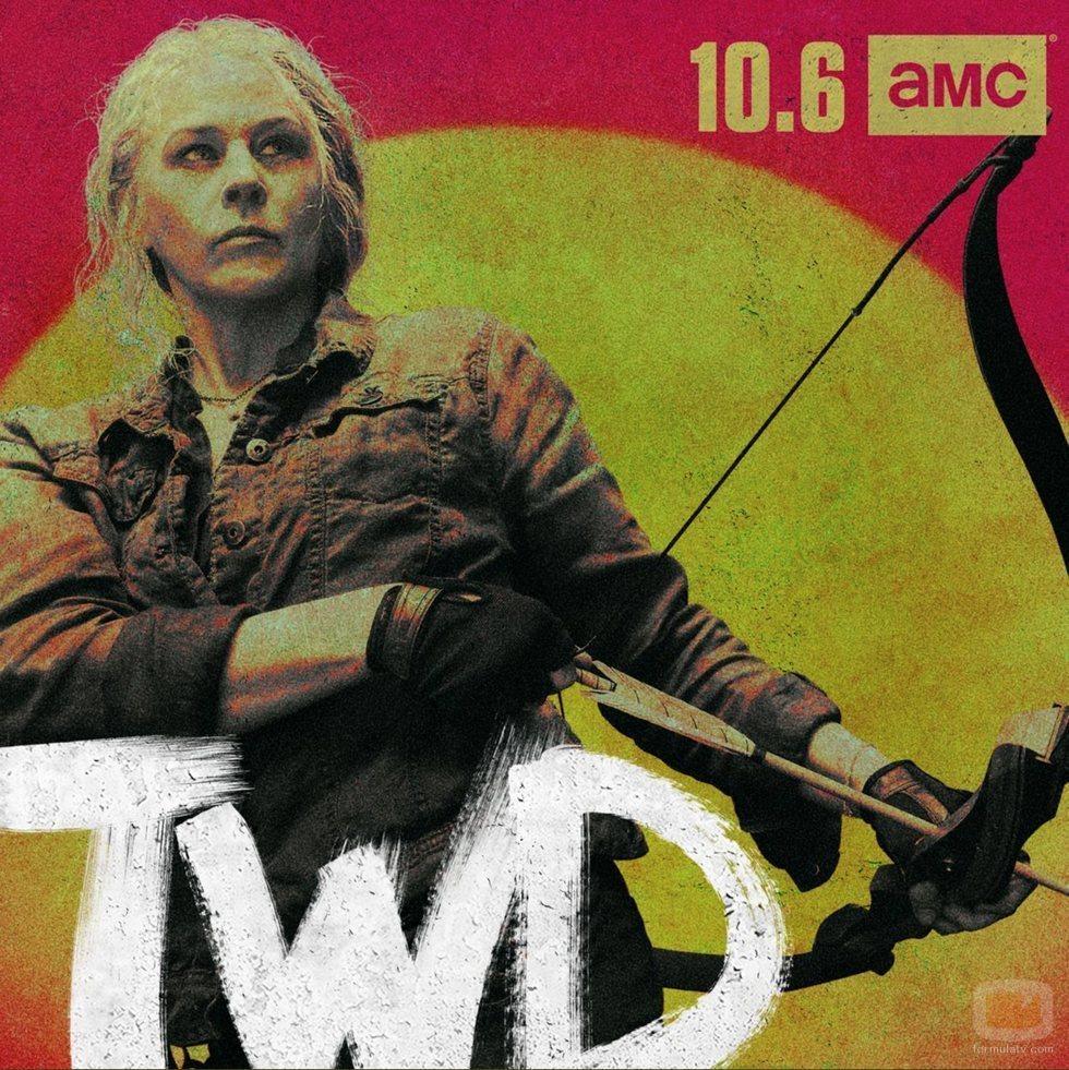 Carol Peletier, en un póster promocional de la temporada 10  de 'The Walking Dead'