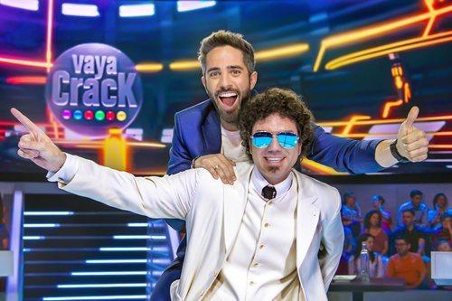 Roberto Leal y Pablo Ibáñez, presentador y colaborador de 'Vaya crack'