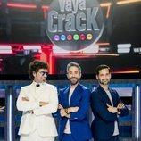 Roberto Leal, Pablo Ibáñez y Luis Quevedo en 'Vaya crack'