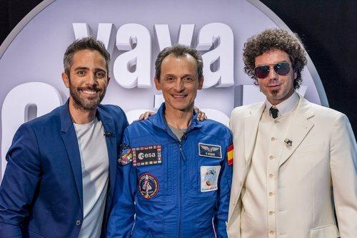 Roberto Leal, Pedro Duque y Pablo Ibáñez en 'Vaya crack'