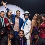 """Roberto Leal con el elenco de """"Michael Jackson Forever"""" en 'Vaya crack'"""